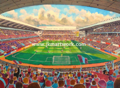 Hand Painted original of villa park